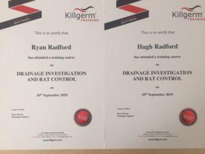 Hugh Radford Certificates
